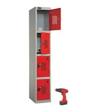 Four Door Power tool recharge Locker