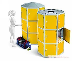 Thirty Three Door Eleven Seed Pod Lockers